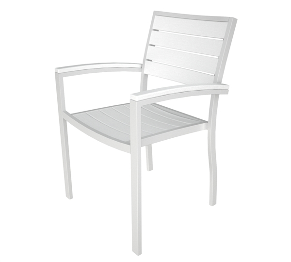Pool Furniture Supply Dining Chair Recycled Plastic Aluminum Frame Polywood