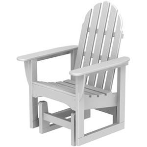 Pool Furniture Supply Adirondack Glider Chair Recycled Plastic
