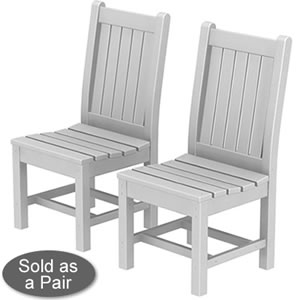 Pool Furniture Supply Dining Chair Recycled Plastic Rockford Style
