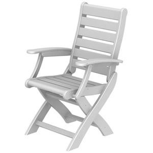 Pool Furniture Supply Dining Chair Recycled Plastic Polywood Signature