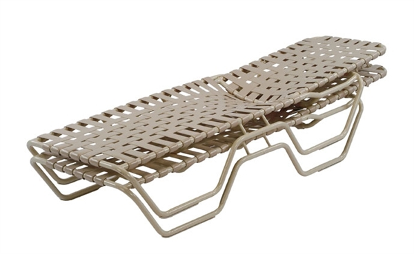 Pool Furniture Supply Chaise Lounge Cross Weave Vinyl