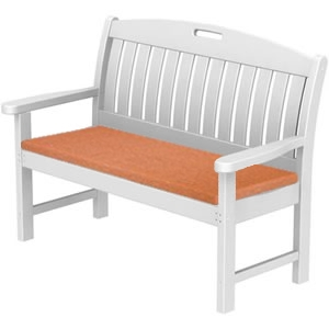 Pool Furniture Supply Seat Cushion 48 Inch Bench Polywood Nautical