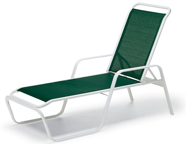 Pool Furniture Supply Chaise Lounge Fabric Sling Aluminum Frame