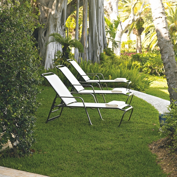 Pool furniture supply chaise lounge fabric sling aluminum for Aluminum frame chaise lounge