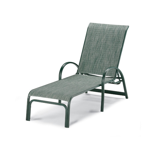 Pool Furniture Supply. Chaise Lounge Lay Flat Fabric Sling Aluminum ...