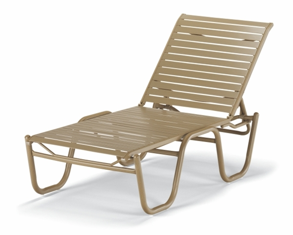 Pool Furniture Supply. Chaise Lounge Armless Vinyl Strap Aluminum ...