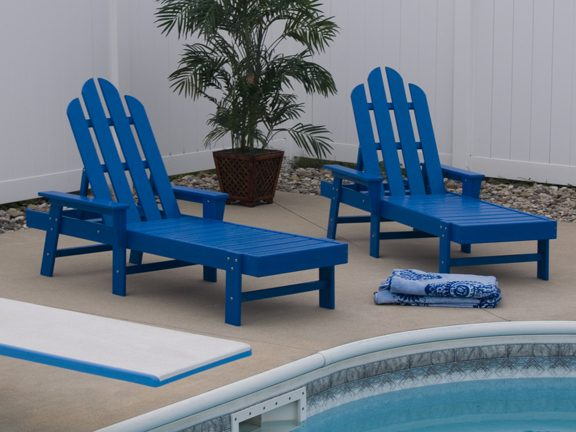 Pool Furniture Supply. Chaise Lounge Recycled Plastic