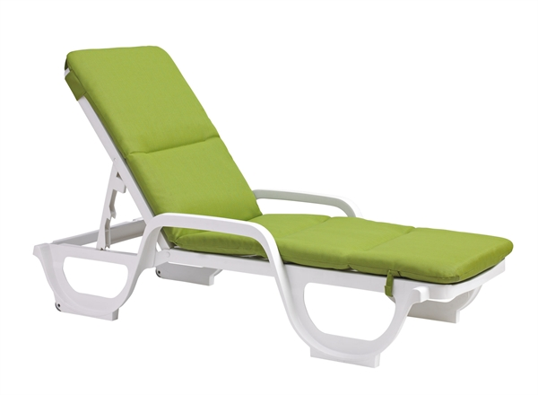 Pool Chaise Lounge Cushions: Pool Furniture Supply. Chaise Lounge Cushion With Hood Bahia