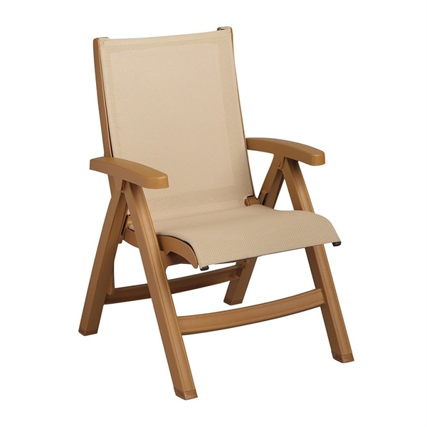 Pool Furniture Supply Folding Plastic Resin Sling Chair Belize Style Pool Furniture