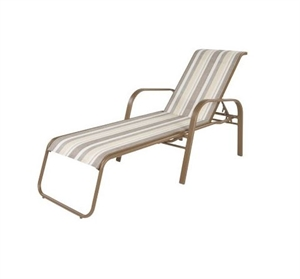 Pool furniture supply anna maria chaise lounge chair for Aluminum frame chaise lounge