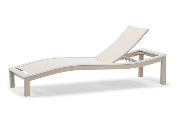 Pool Furniture Supply Telescope Bazza Armless Chaise Lounge Fabric Sling Wit