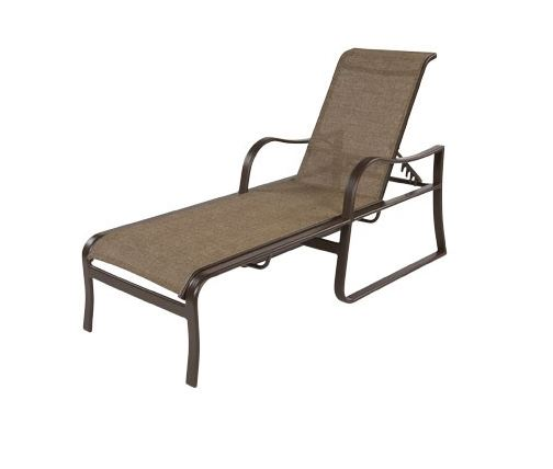 Pool furniture supply corsica chaise lounge with arms for Aluminum frame chaise lounge
