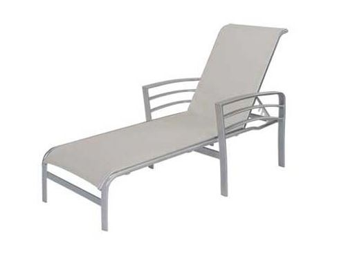 Pool furniture supply skyway chaise lounge with arms for Aluminum frame chaise lounge