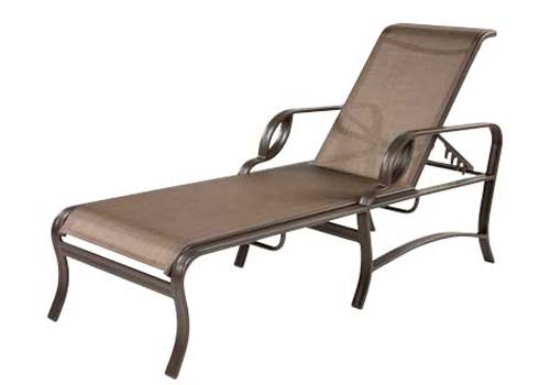 Pool furniture supply eclipse chaise lounge with arms for Aluminum frame chaise lounge