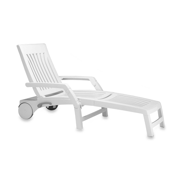 Pool Furniture Supply Nettuno Plastic Resin Folding Chaise Lounge 31 Lbs