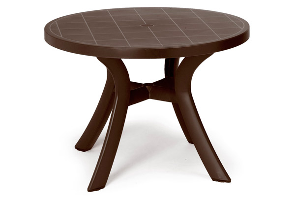 Pool furniture supply dining table 40 inch round plastic for Plastik pool rund