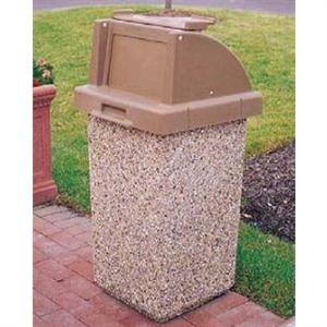 Pool Furniture Supply 30 Gallon Concrete Pool Deck Trash