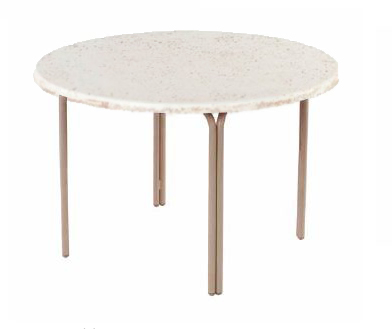 Pool Furniture Supply ADA Compliant 48 Round Faux Stone Pool Side Dining Table