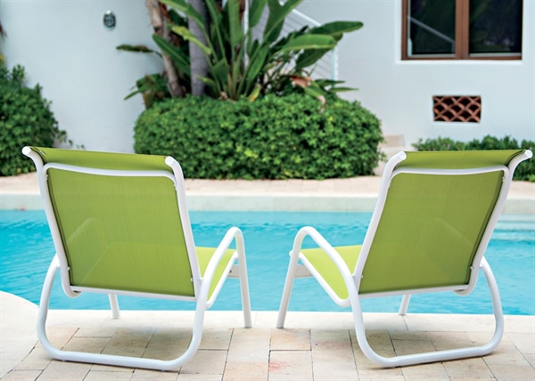 Pool Furniture Supply Pool Chair Fabric Sling Aluminum