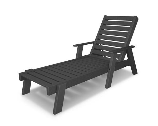 pool furniture supply chaise lounge with arms recycled plastic polywood