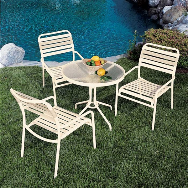 Pool Furniture Supply Tropitone Kahana Strap Dining Chair