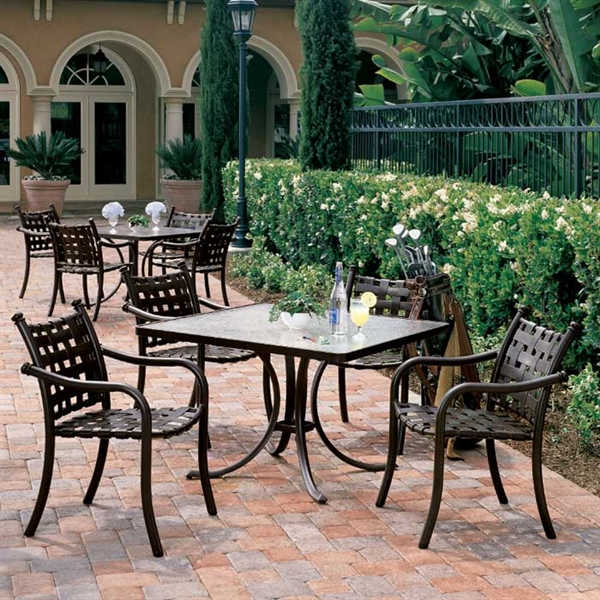 Pool furniture supply tropitone la scala cross strap bar for Tropitone patio furniture