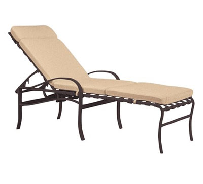 Pool furniture supply tropitone pool furniture palladian for Aluminum frame chaise lounge