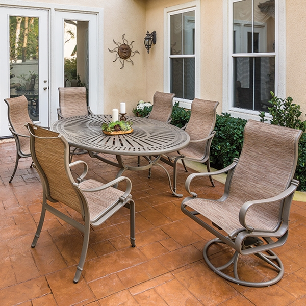 Tropitone Patio Furniture: Pool Furniture Supply. Tropitone Torino Sling Patio Dining