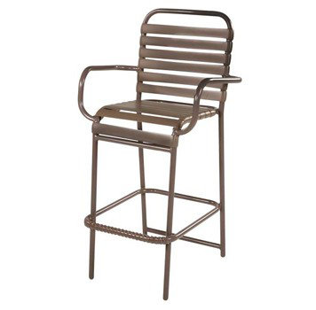 Pool Furniture Supply St Maarten Vinyl Strap Bar Stool