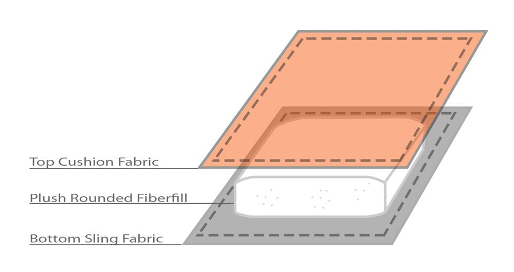 Padded Sling Chaise Lounge Diagram