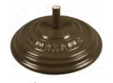Picture of Fiberbuilt Fiberglass Molded 125 lb Umbrella Base 27 Inch Diameter.
