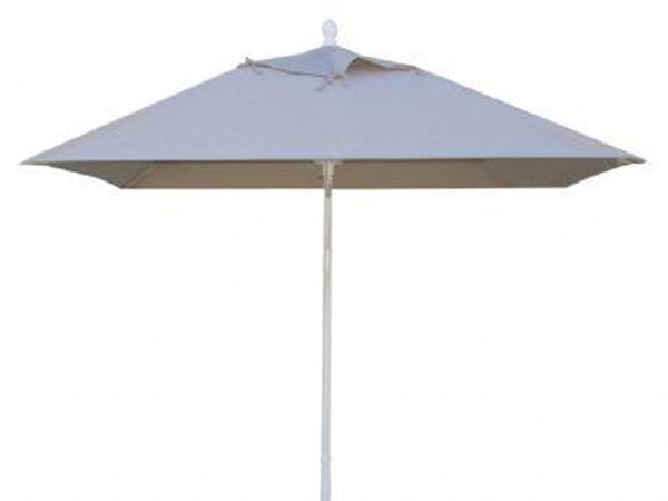 Fiberbuilt Augusta Market Umbrella 6 Foot Square with One Piece Simulated Wood Pole and Marine Grade Fabric