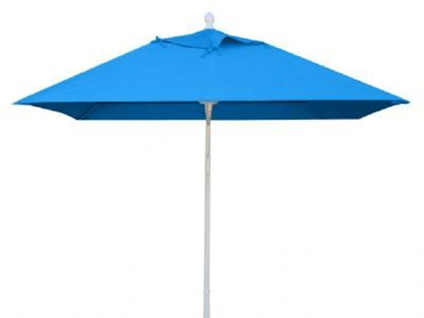 Fiberbuilt Market Umbrella 7 1/2 Foot Square with Two Piece Powder Coated Pole