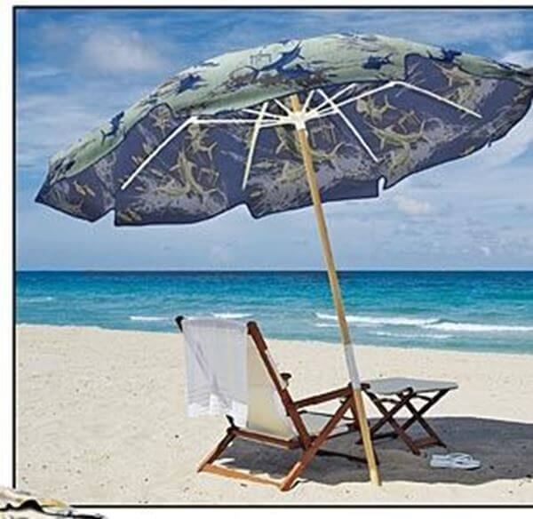 Picture Of Fiberbuilt Guy Harvey Beach Umbrella 7 1 2 Foot Octagon With Two Piece
