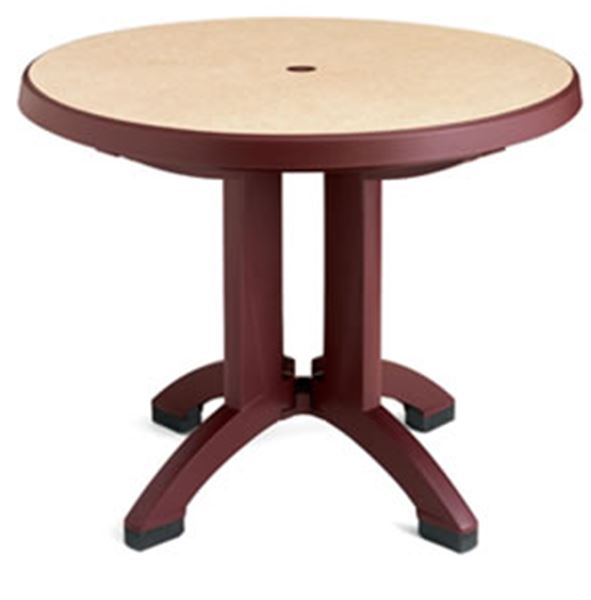 38 Inch Round Table.Pietra 38 Inch Round Folding Table Plastic Resin Case Pack Of 6