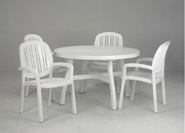 Inch Round Tables Picture Of White Ponza Clic Dining Set Includes 8 Armchairs And 2 Colosseo 47