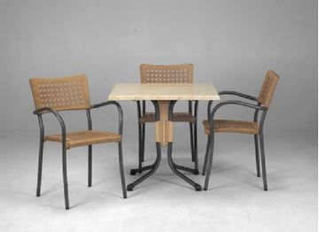 Picture of Set of 2 Artica Dining Sets, Includes 8 Artica Dining Chairs and 2 Polo 31 Inch Square Dining Tables