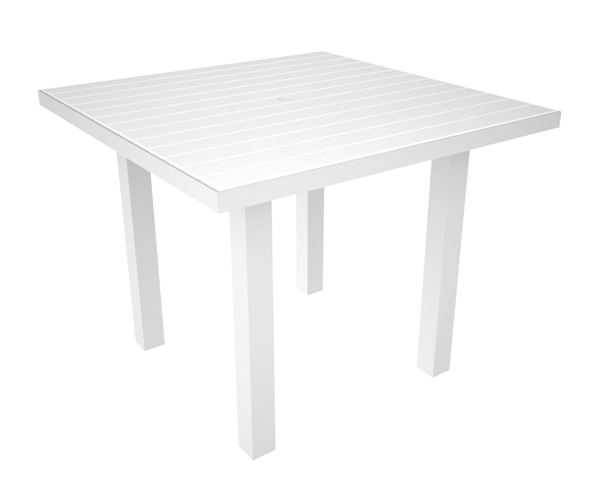 36 inch square dining table picture of polywood euro style 36 inch square dining table recycled plastic slats with aluminum pool
