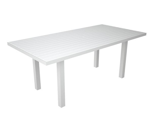 Polywood Euro Style 36x72 Inch Rectangle Dining Table