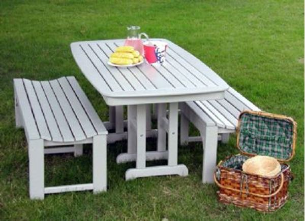 Groovy Polywood Traditional Style Recycled Plastic Dining Set Includes Two Traditional 60 Inch Backless Benches And One Nautical Style Rectangle Dining Gmtry Best Dining Table And Chair Ideas Images Gmtryco