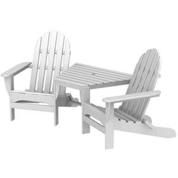 Picture Of POLYWOOD® Adirondack Chair Tete A Tete Recycled Plastic