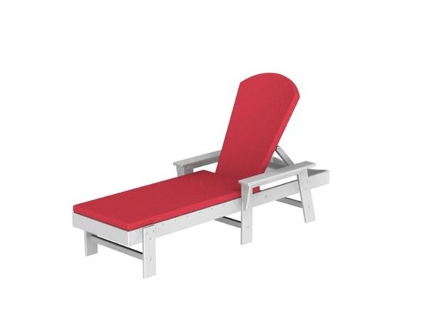 Full Cushion Chaise Lounge Polywood South Beach Style
