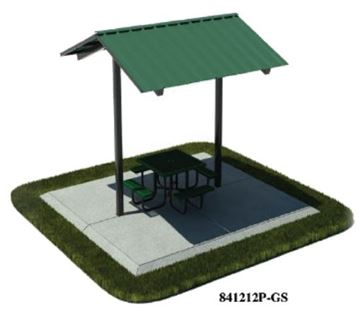 Picture of 12x12 Foot All-Steel Mini Shelter, Inground Mount