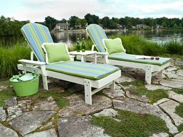Polywood Cushions Shell Back Adirondack Chair Full Cushion Only