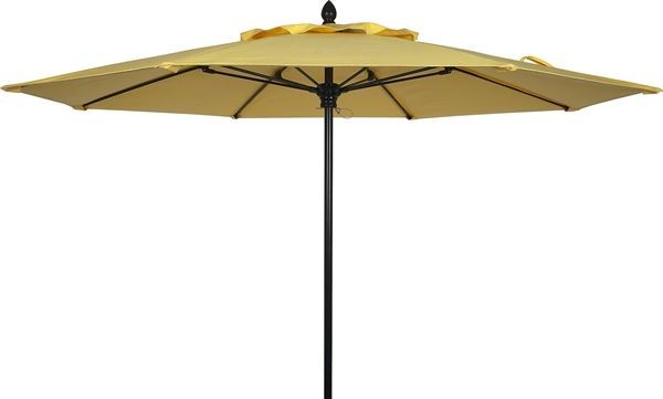 Picture of Fiberbuilt Lucaya Market Umbrella 11 Foot Octagon with One Piece Powder Coated Pole and Marine Grade Fabric