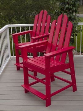 Picture of Polywood Long Island Counter Chair Recycled Plastic