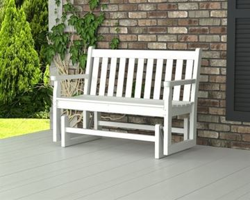 Picture of Polywood Traditional 48 Inch Glider Bench Recycled Plastic