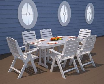 Polywood Nautical High Back Folding Dining Chair