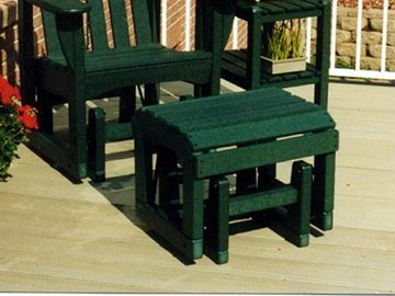 Picture of Polywood Adirondack Glider Ottoman Recycled Plastic