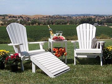 Picture of Polywood Shell Adirondack Chair Recycled Plastic